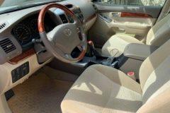 Inside of Toyota prado