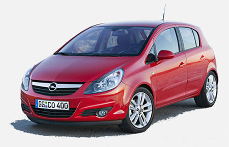 Opel Corsa 1.2 red